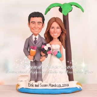 Hawaii Wedding Cake Toppers