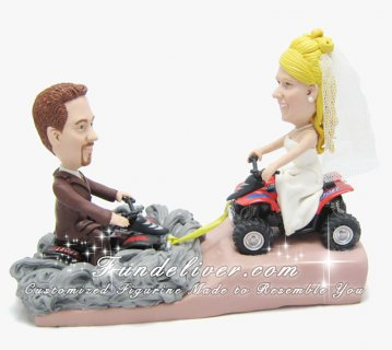 ATV Cake Toppers, ATV Four Wheeler Wedding Cake Toppers