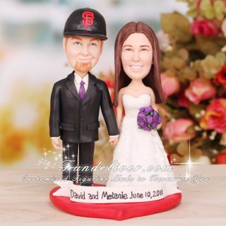 San Francisco Giants Baseball Wedding Cake Toppers