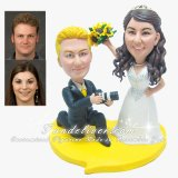 """Show me your Big Smile!"" Funny Photographer Wedding Cake Topper"