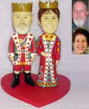 50th Anniversary Gifts, King & Queen Playing Card Apparel Wedding Cake Topppers