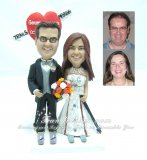 Skiing Wedding Cake Toppers, Ski Theme Cake Toppers