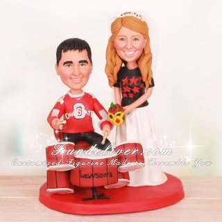 Music and Sports Wedding Cake Toppers