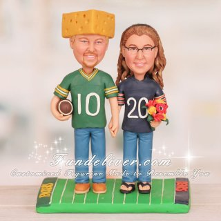 Green Bay Packers and Chicago Bears Cake Toppers