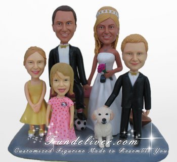 Family Wedding Cake Toppers, Family Cake Toppers