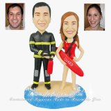 30th Anniversary Gifts, Personalized 30th Beach Theme Anniversary Cake Toppers