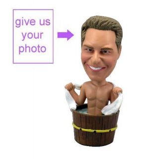 Personalized Gift Bathing Man Theme Figurine