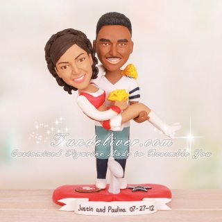 Dallas Cowboys and San Francisco 49ers Wedding Cake Toppers