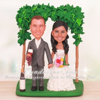 Winery Theme Vineyard Wedding Cake Toppers