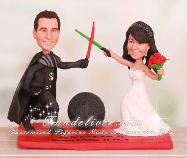 Star War Theme Darth Vader Cake Toppers