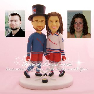 Hockey Wedding Cake Toppers, Hockey Cake Toppers