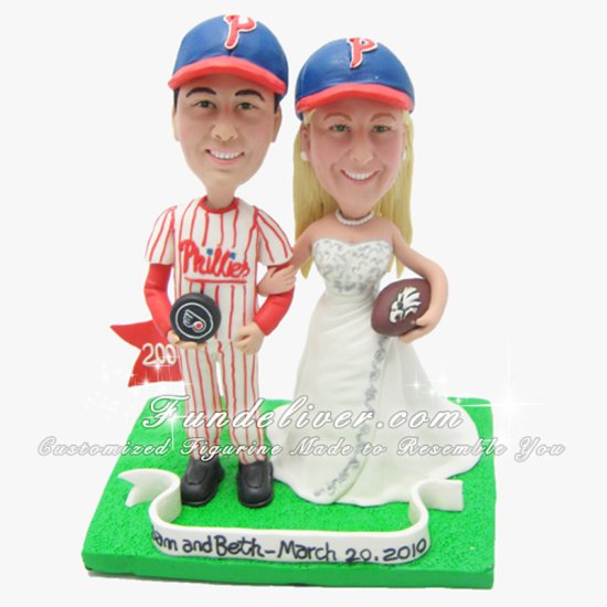 Philadelphia Eagles Wedding Cake Topper, Philadelphia Eagles Cake Topper - Click Image to Close