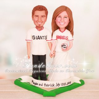 Los Angeles Angels and San Francisco Giants Baseball Cake Toppers