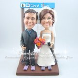 Skier Cake Toppers, Skier Wedding Cake Toppers