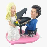 Piano Theme Wedding Cake Topper, Piano Player Wedding Cake Toppers