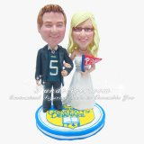 University of Delaware Wedding Cake Toppers, University Cake Topper