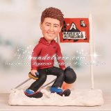 Ski Cake Topper for Bar Mitzvah