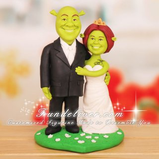 Shrek and Fiona Wedding Cake Toppers