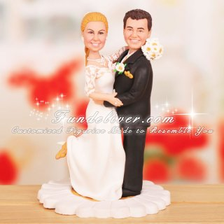 Daisy Theme Wedding Cake Toppers