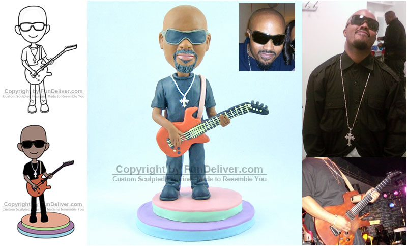 personalized guitar Player gift