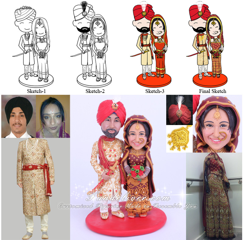 Bollywood wedding Cake Toppers