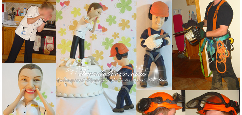 Tree Surgeon Wedding Cake Toppers