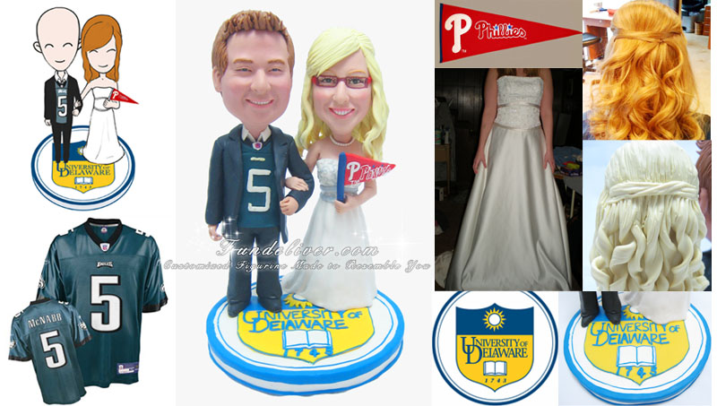 University of Delaware Wedding Cake Toppers