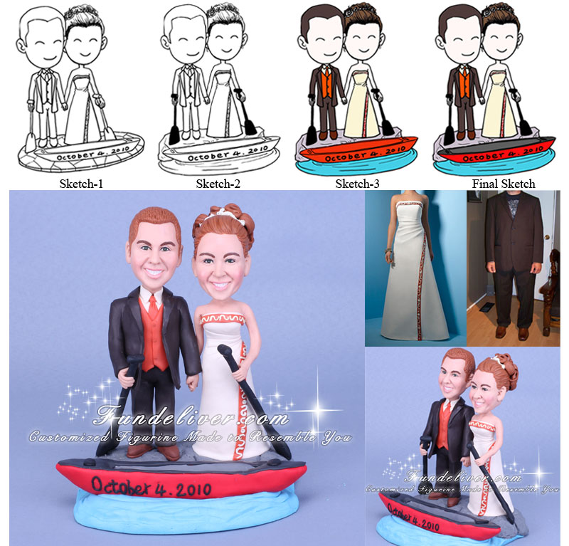 wedding cake toppers boat theme