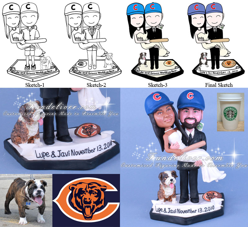 NFL Chicago Bears Groom Cake Topper Ornament
