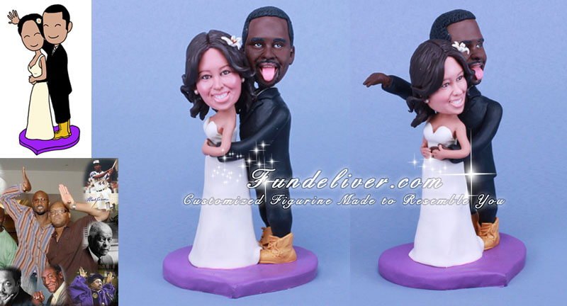 african american wedding cake toppers humorous wedding cake toppers ankaperla 1241