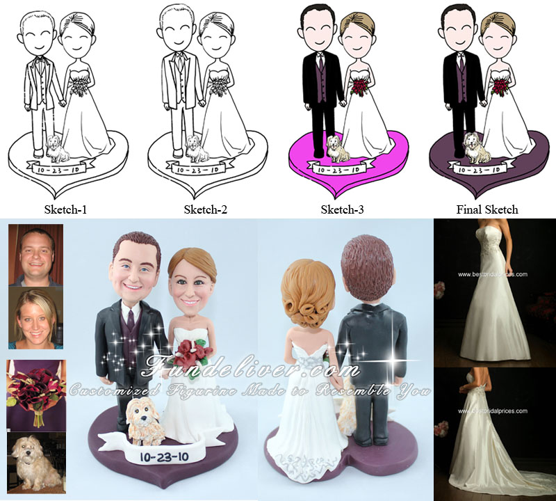 Sweet Wedding Cake Toppers
