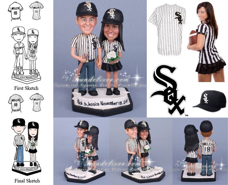 white sox wedding cake topper