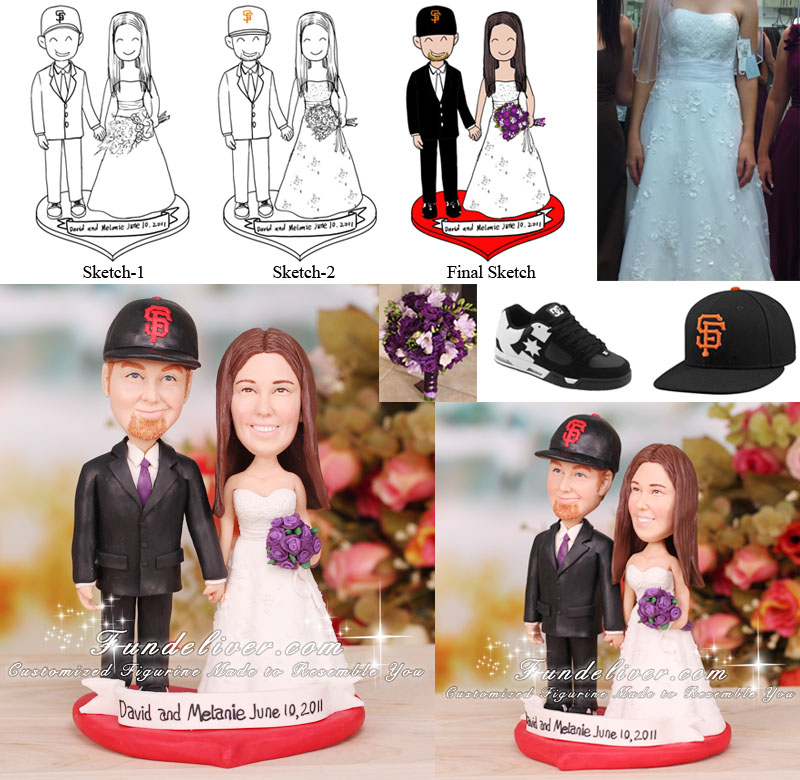 San Francisco Giants Wedding Cake Topper