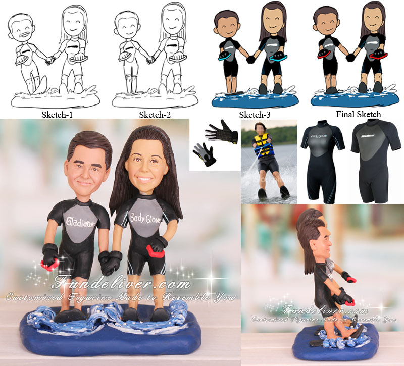 Water Skiing Skier Cake Topper Water Sports Theme
