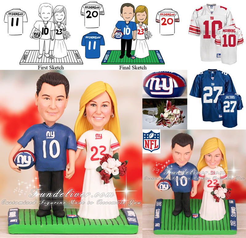 New York Giants Cake Topper