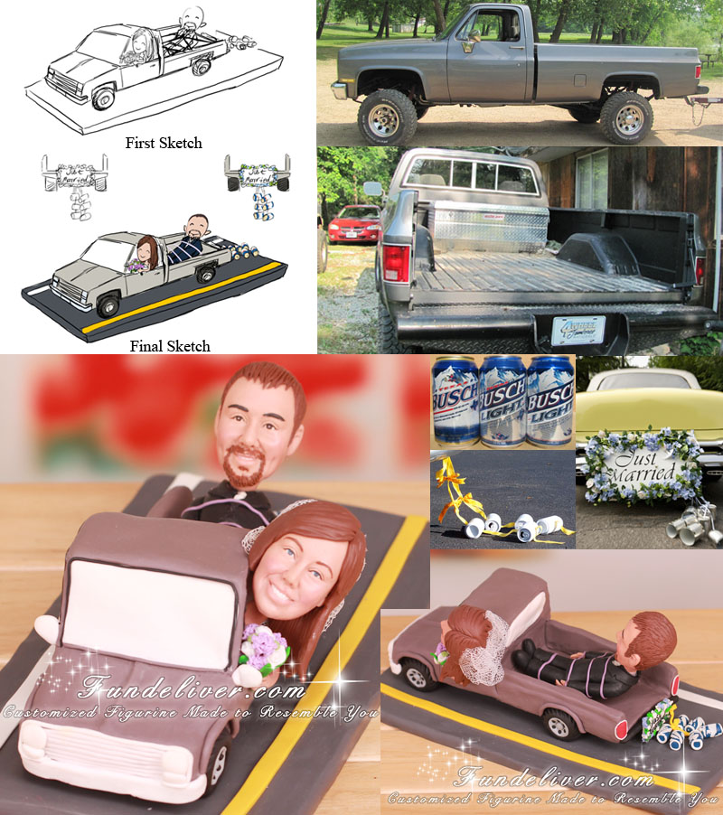 4-Wheel Truck Cake Toppers