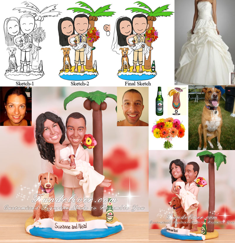 Seaside Wedding Cake Toppers