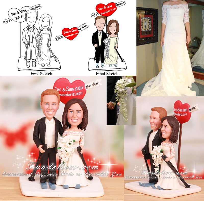 Cross-Country Ski Cake Toppers