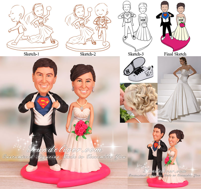 Superman Wedding Cake Topper
