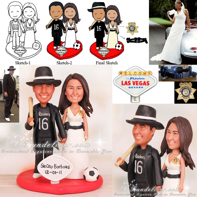 Prison officer Corrections Officer Wedding Cake Toppers