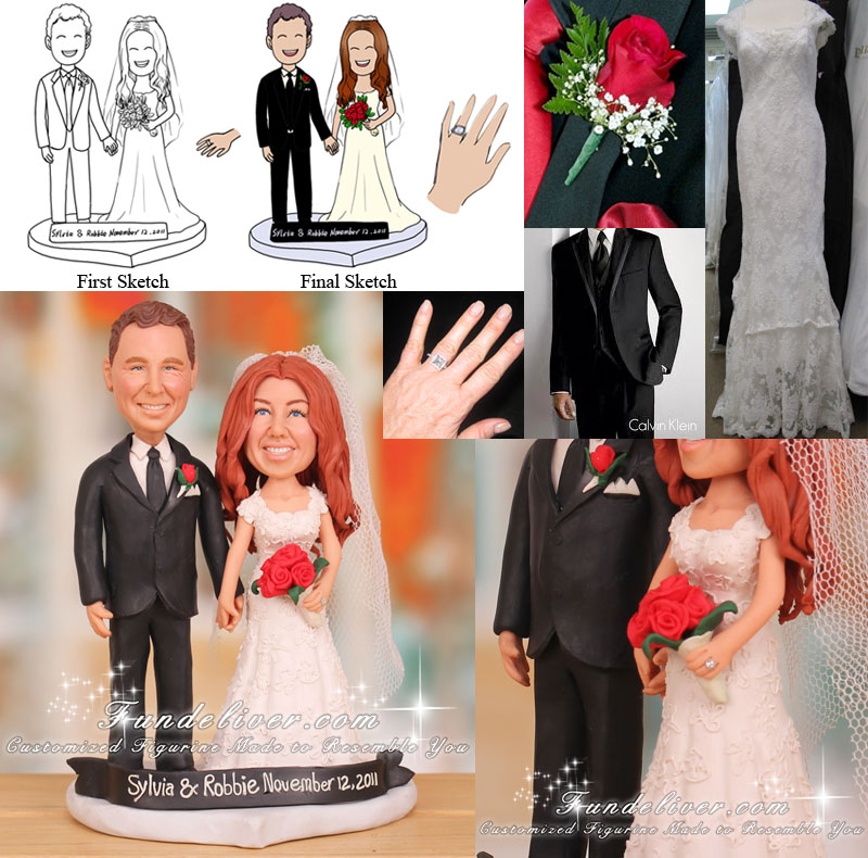 Wedding Cake Topper Romantic