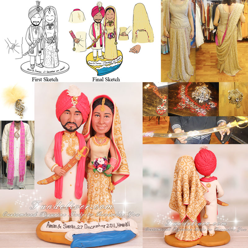 Indian Wedding Cake Topper and Decoration