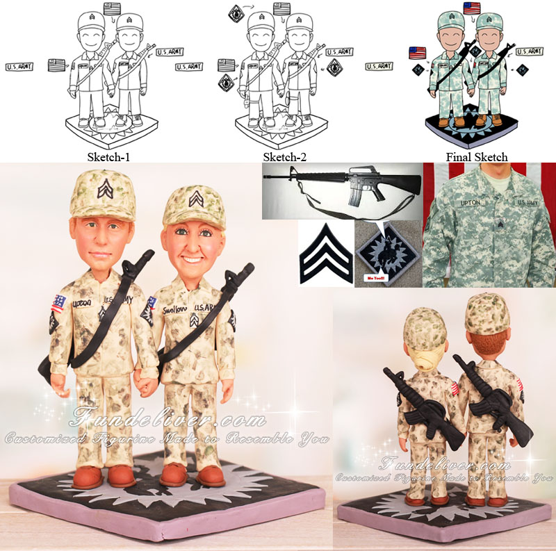 U.S. Army Wedding Cake Toppers