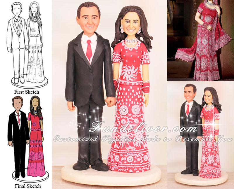 Pakistani Wedding Cake Toppers