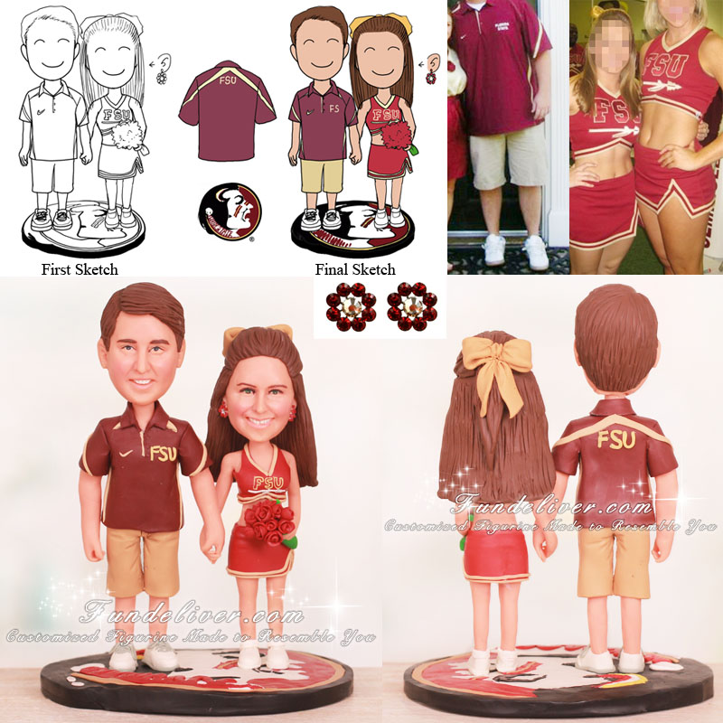 FSU Florida State Seminoles Wedding Cake Toppers